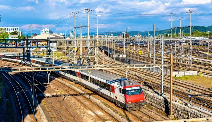 All of Switzerland's rail network is electrified. Photo: Leonid Andronov.
