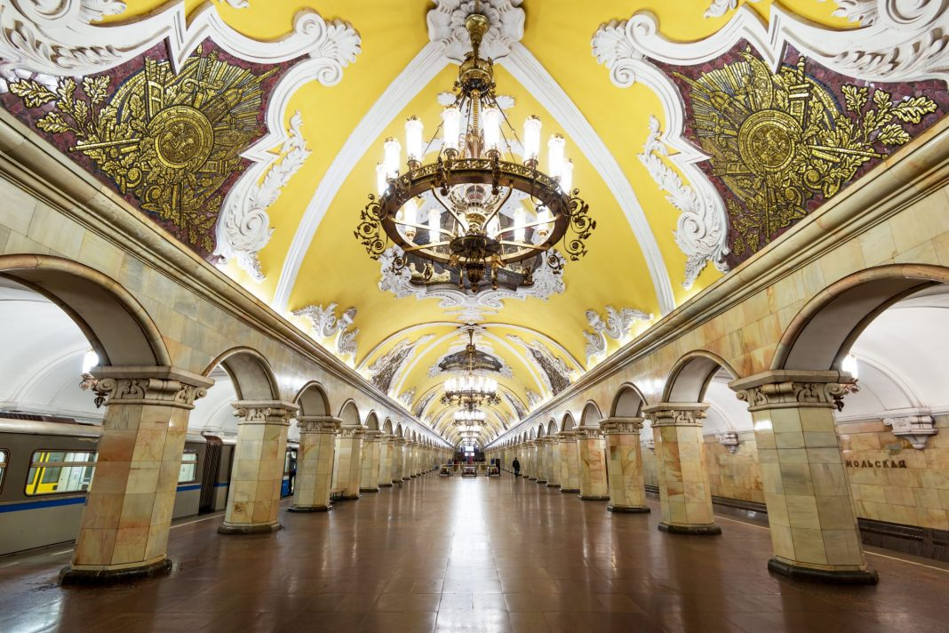 Komsomolskaya station. Photo: Scallger.