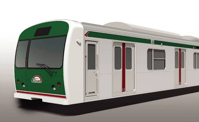 A CGI of the system's rolling stock. Photo: DMTC.