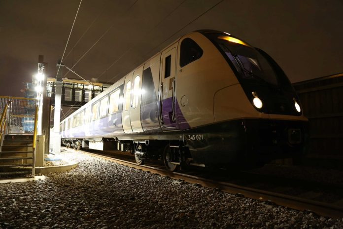 An Elizabeth line train makes its maiden voyage across South East London. Photo: Crossrail.