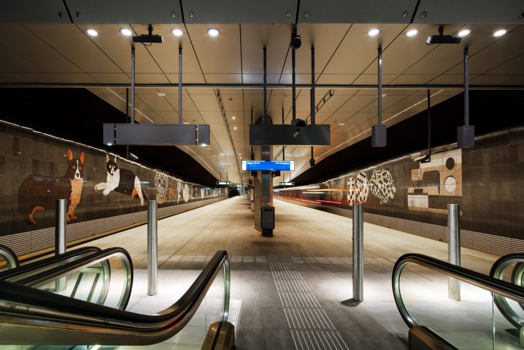 Rokin station. Photo: Noord station. Photo: Benthem Crouwel Architects/Jannes Linders.