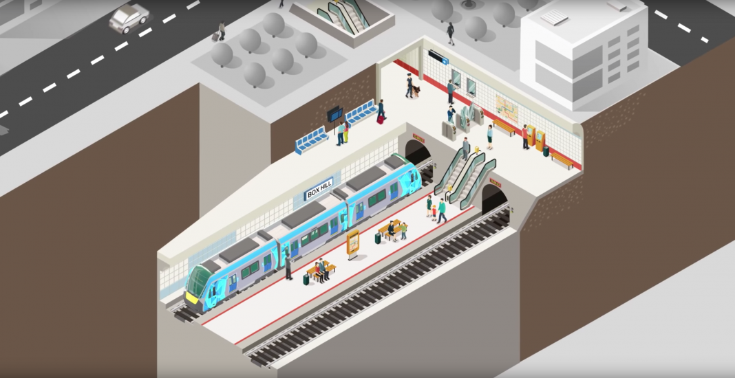 The south east section of the Suburban Rail Loop will run underground between Cheltenham and Box Hill. Photo: Rail Projects Victoria.