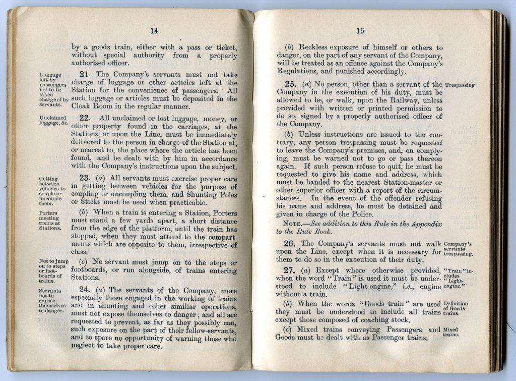 Great Western Railway rule book, 1904. Photo: National Railway Museum.