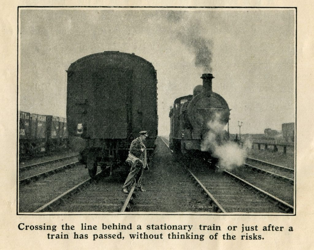 From a 1930s accident prevention booklet. Photo: National Railway Museum.