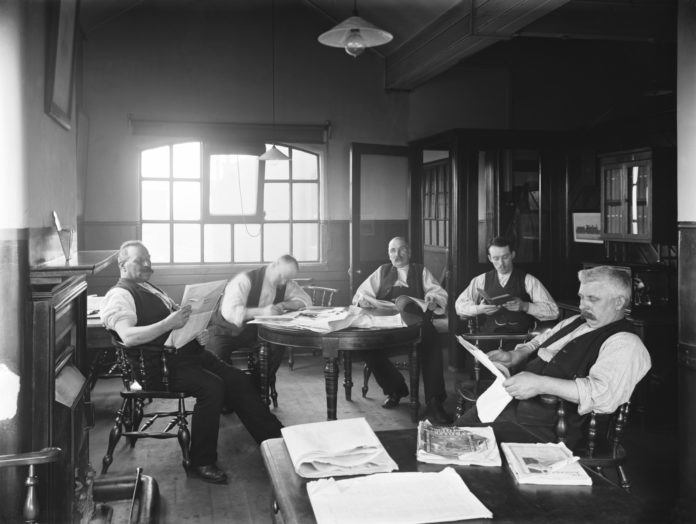 Great Eastern Railway enginemen's dormitory, Stratford, 1911. Photo: National Railway Museum.