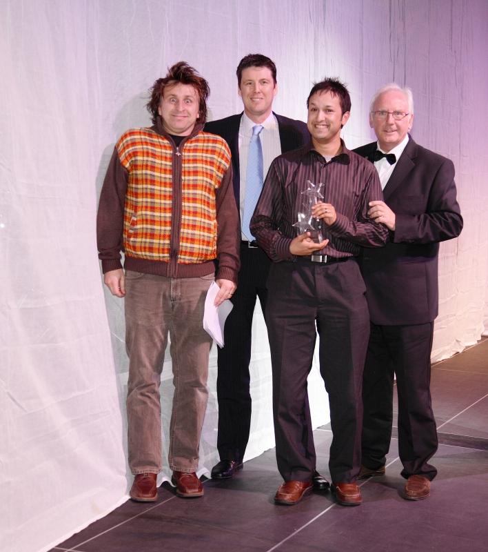 Milton Jones (far left) at the 2008 ceremony.
