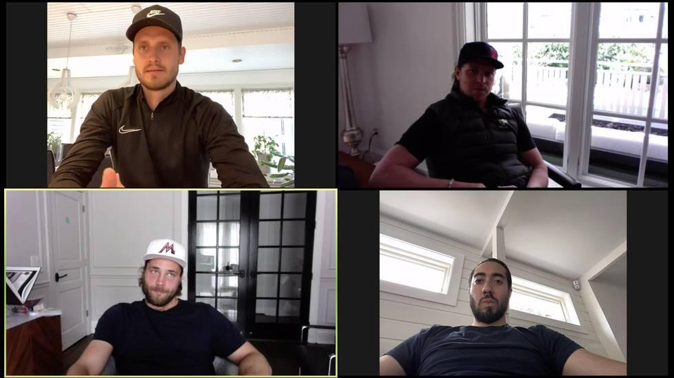 Videosamtal med Ekman Larsson, Zibanejad, Hedman och Bäckström
