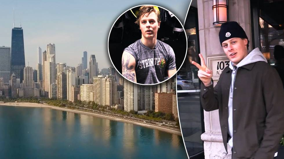 HockeyNews.se träffar Adam Boqvist i Chicago