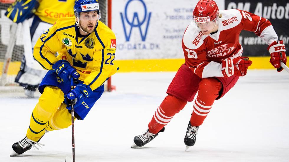 Tre Kronors landskamper mot Danmark ställs in