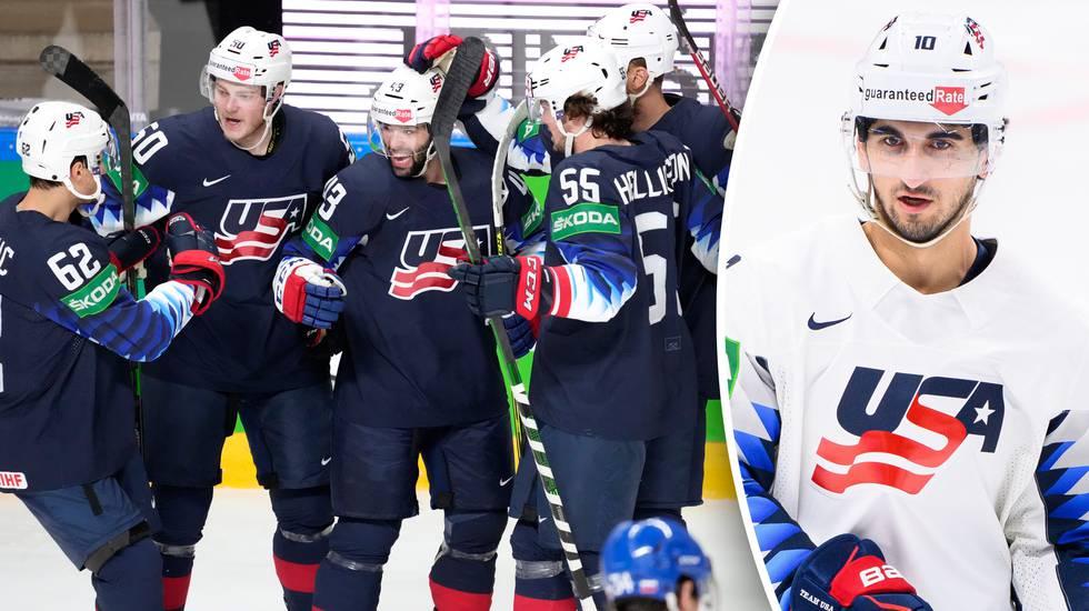 Stortalangen skadad när USA krossade Slovakien i kvartsfinalen