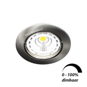 LED spot kantelbaar GU10 6Watt rond dimbaar