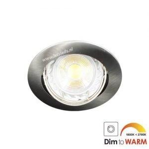 LED spot kantelbaar GU10 7Watt rond dimbaar