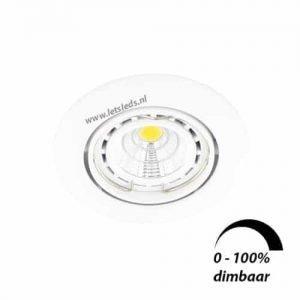 LED spot WIT kantelbaar GU10 6Watt rond dimbaar