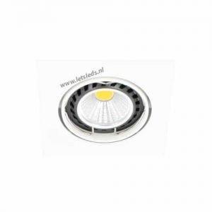 LED spot WIT kantelbaar GU10 COB 5Watt vierkant dimbaar