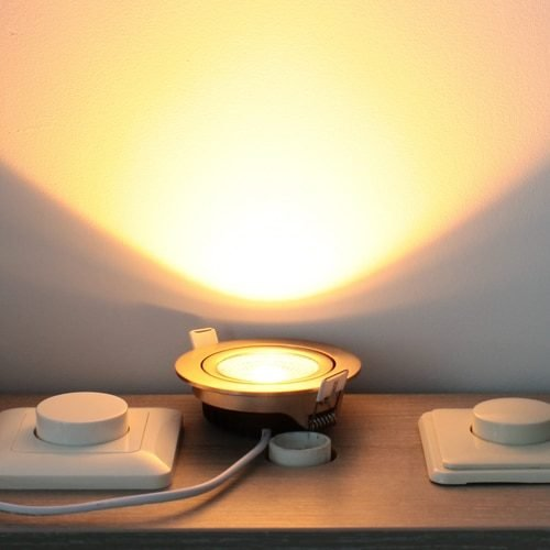 LED spot kantelbaar 7Watt rond NIKKEL dimbaar