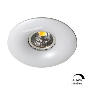 LED spot GU10 6Watt rond WIT dimbaar