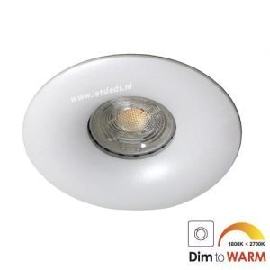 LED spot GU10 7Watt rond WIT dimbaar