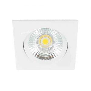 LED spot kantelbaar 5Watt vierkant WIT dimbaar