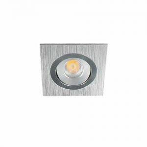 LED spot 60x60mm kantelbaar 3Watt vierkant dimbaar