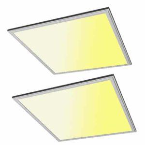 2 stuks: LED paneel 36Watt 600*600mm warm wit
