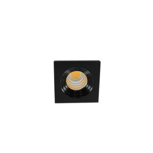 LED mini spot 3838mm 3Watt vierkant ZWART dimbaar