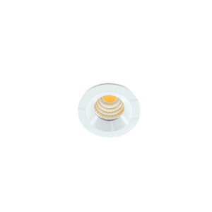 LED mini spot 38mm 3Watt rond WIT dimbaar