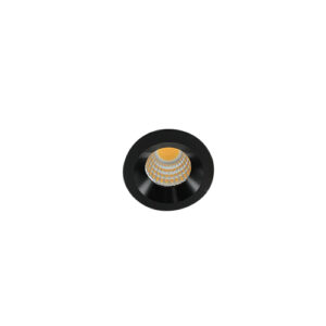 LED mini spot 38mm 3Watt rond ZWART dimbaar