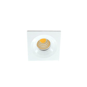 LED mini spot 4545mm 3Watt vierkant WIT dimbaar