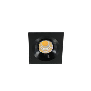 LED mini spot 4545mm 3Watt vierkant ZWART dimbaar