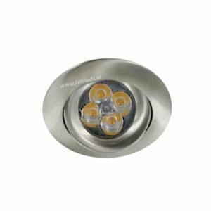 LED spot GU10 4Watt rond NIKKEL dimbaar