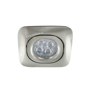 LED spot GU10 4Watt vierkant NIKKEL dimbaar