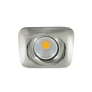 LED spot GU10 5Watt COB vierkant NIKKEL dimbaar