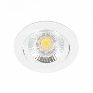 LED spot kantelbaar 5Watt rond WIT dimbaar