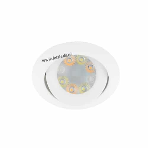 Wifi LED RGBW spot WIT kantelbaar GU10 4Watt rond dimbaar
