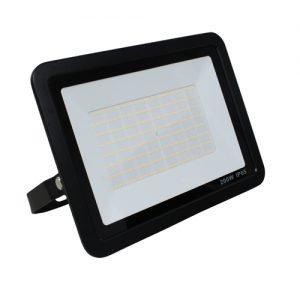 LED breedstraler zwart 200Watt warm wit