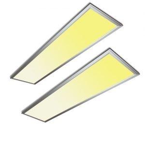 2 stuks:LED paneel 36Watt 1200*300mm warm wit
