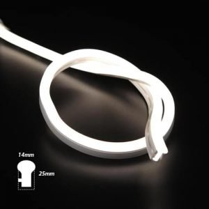 LED neon flex 220V helder daglicht IP67 dimbaar per-meter plug & play
