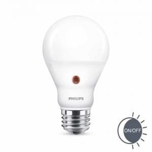 Philips LED GLS E27 7,5Watt dag/nacht sensor