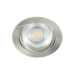 LED spot kantelbaar 5Watt rond NIKKEL IP65 dimbaar