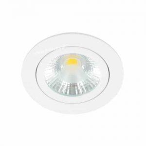 LED spot kantelbaar 5Watt rond WIT IP65 dimbaar