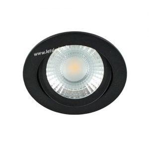 LED spot kantelbaar 5Watt rond ZWART IP65 dimbaar