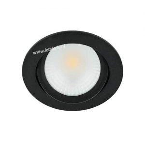 LED spot kantelbaar 5Watt rond ZWART dimbaar