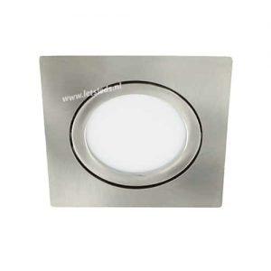 LED spot kantelbaar 5Watt vierkant NIKKEL IP65 dimbaar