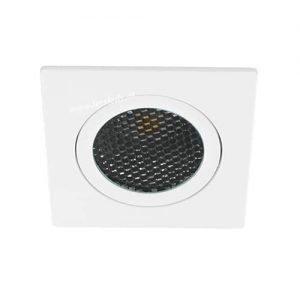 LED spot kantelbaar 5Watt vierkant WIT IP65 dimbaar