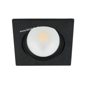 LED spot kantelbaar 5Watt vierkant ZWART dimbaar
