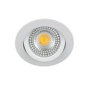 LED spot kantelbaar 5Watt rond WIT IP65 dimbaar - zonder driver