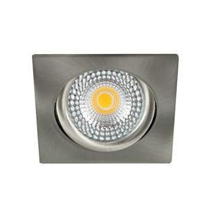 LED spot kantelbaar 5Watt vierkant NIKKEL IP65 dimbaar - zonder driver