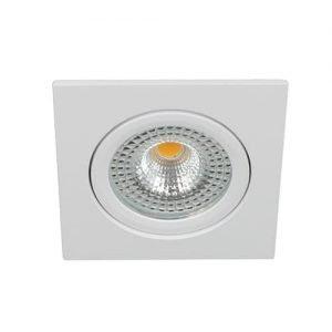 LED spot kantelbaar 5Watt vierkant WIT IP65 dimbaar - zonder driver