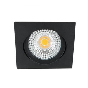 LED spot kantelbaar 5Watt vierkant ZWART IP65 dimbaar - zonder driver