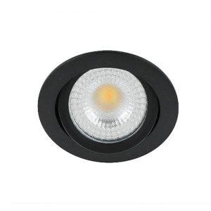 LED spot kantelbaar 5Watt rond ZWART IP65 dimbaar – interne driver2